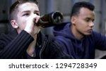 troubled teenage friends... | Shutterstock . vector #1294728349