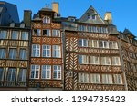 old rickety half timbered... | Shutterstock . vector #1294735423