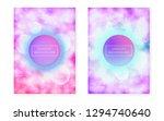 bauhaus cover set with liquid... | Shutterstock .eps vector #1294740640