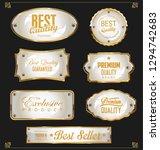 golden sale labels retro... | Shutterstock .eps vector #1294742683