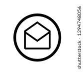 email icon symbol vector | Shutterstock .eps vector #1294748056