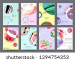 covers with minimal design.... | Shutterstock .eps vector #1294754353
