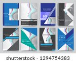 covers with minimal design.... | Shutterstock .eps vector #1294754383