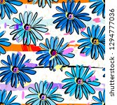 floral seamless pattern... | Shutterstock .eps vector #1294777036