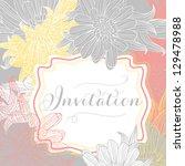 invitation card | Shutterstock .eps vector #129478988