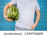 man holding armpit big... | Shutterstock . vector #1294796809