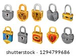 vector lock set isolated on...