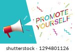 "megaphone with ""promote... 