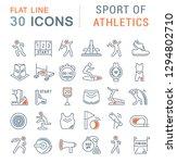 set of vector line icon of... | Shutterstock .eps vector #1294802710