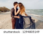 two happy people in love ... | Shutterstock . vector #1294805149