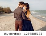 two happy people in love ... | Shutterstock . vector #1294805173