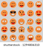 emoticons.smileys icon yellow... | Shutterstock .eps vector #1294806310