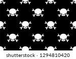 skull patterns  trendy vector... | Shutterstock .eps vector #1294810420