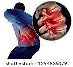 lower back pain or backache and ...   Shutterstock . vector #1294836379