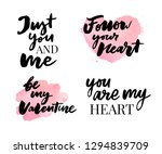 valentine's day set of symbols... | Shutterstock .eps vector #1294839709