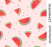 watermelon slices vector... | Shutterstock .eps vector #1294843930