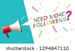 need more followers  | Shutterstock .eps vector #1294847110