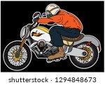 sticker vector motorcycle.biker ... | Shutterstock .eps vector #1294848673