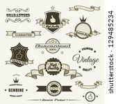 set of vintage elements | Shutterstock .eps vector #129485234