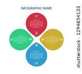 infographic template design  ... | Shutterstock .eps vector #1294854133