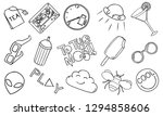 patch set on white background.... | Shutterstock .eps vector #1294858606
