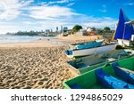 traditional wooden boats... | Shutterstock . vector #1294865029