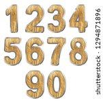 set of arabic numbers  ggold... | Shutterstock . vector #1294871896