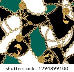 fashion seamless pattern with... | Shutterstock . vector #1294899100