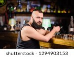 guy spend leisure in bar with...   Shutterstock . vector #1294903153