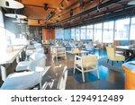 spacious restaurant. little... | Shutterstock . vector #1294912489