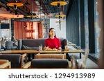 spacious restaurant. dark... | Shutterstock . vector #1294913989