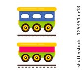 cartoon cute railway carriage... | Shutterstock .eps vector #1294915543