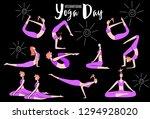 female yoga. vector...   Shutterstock .eps vector #1294928020