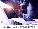 business people are working... | Shutterstock . vector #1294939729