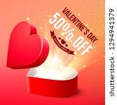 valentine's day sale... | Shutterstock .eps vector #1294941379