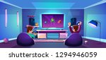 vector game room with people... | Shutterstock .eps vector #1294946059