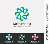 medical techlology logo design | Shutterstock .eps vector #1294948600