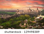 dramatic view on the castle in... | Shutterstock . vector #129498389