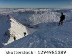 Climbers Descending Towards...