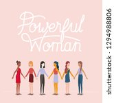 group of women characters with... | Shutterstock .eps vector #1294988806