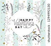 happy valentines day card with... | Shutterstock .eps vector #1294992130