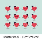 group of male hearts love... | Shutterstock .eps vector #1294996990