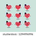 group of male hearts love... | Shutterstock .eps vector #1294996996