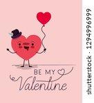 heart love kawaii character | Shutterstock .eps vector #1294996999