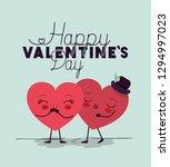 hearts love couple kawaii... | Shutterstock .eps vector #1294997023