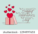 happy valentines day card with... | Shutterstock .eps vector #1294997653