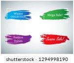 trendy banner design set...   Shutterstock .eps vector #1294998190