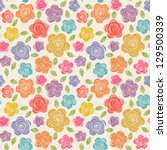 vector seamless pattern with...   Shutterstock .eps vector #129500339