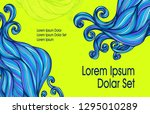 visit card or template flyer... | Shutterstock .eps vector #1295010289