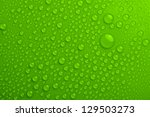 water drops on green background | Shutterstock . vector #129503273
